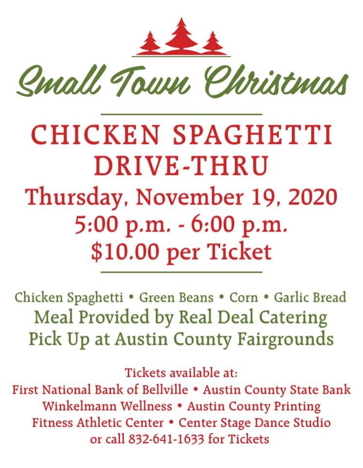 Small Town Christmas Chicken Spaghetti Drive Thru Historic Austin County In Texas