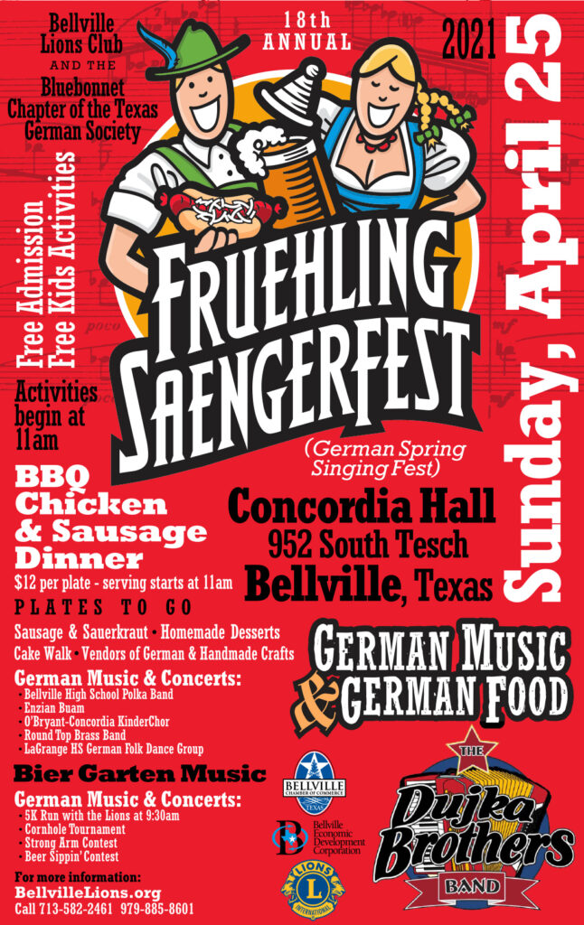 Bellville Fruehling Saengerfest April 25, 2021